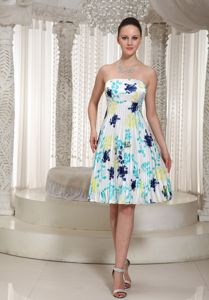Printing Pleated Short Colorful Party Dress for Homecoming under 150
