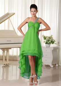 Whiteland USA Top High-low Spring Green Homecoming Dress for Juniors
