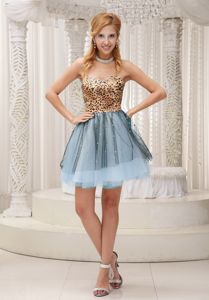 Leopard Print Mini Multi-Color Celebrity Homecoming Dress in Zionsville USA
