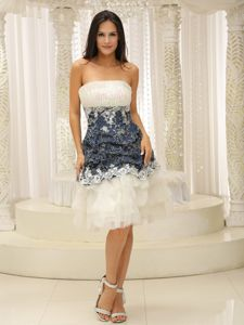 Unique Ruffled White Homecoming Dresses with Paillette and Appliques
