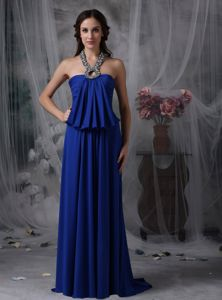 Lace-up Halter Royal Blue Evening Homecoming Dresses with Beading
