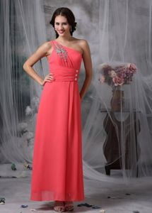 Top Watermelon Red Chiffon Homecoming Dress in Shipshewana USA