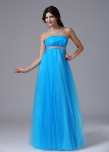 Tulle Strapless Baby Blue Homecoming Party Dress in Shelbyville USA