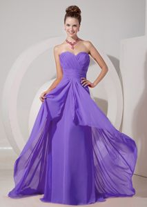 Lace-up Brush Train Light Purple Junior Homecoming Dress for Clearance