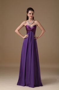 Purple Empire Sweetheart Celebrity Homecoming Dress with Beads
