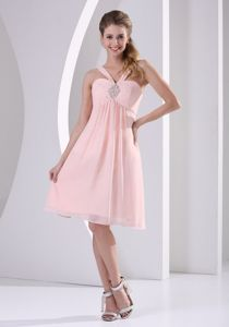 Inexpensive Straps Baby Pink Short Homecoming Dresses under 100