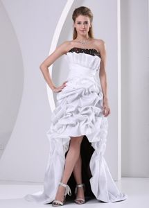 Latest Pick-ups High-low White Evening Homecoming Dress under 150