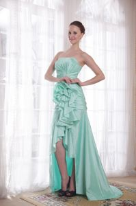 Strapless High-low Apple Green Homecoming Dress in New Palestine USA