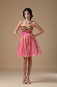 Multi-color Sweetheart Organza Beaded Short Homecoming Dresses in Mini-length in Boise