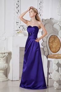 Purple A-line Sweetheart Satin Vintage Homecoming Dresses with Hand Made Flowers in Tyler