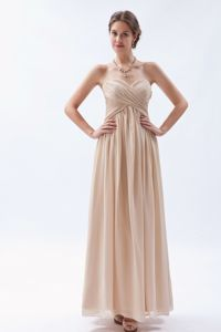 Sweetheart Floor-length Champagne Empire Homecoming Dresses in Chiffon from Union