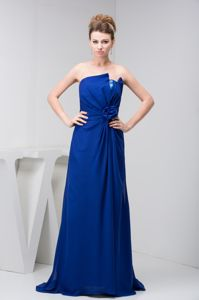 Ruched and Floral Homecoming Princess Dresses in Royal Blue from Westminster