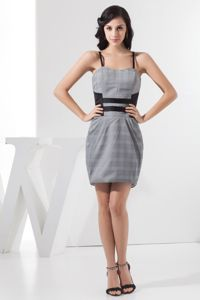 Spaghetti Straps Mini-length Short Homecoming Dresses for Girls in Grey from Durango