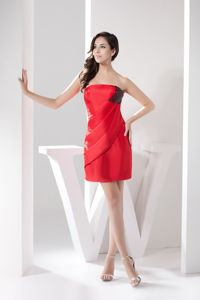 2013 Mini-length Red Column Homecoming Princess Dresses in Pennsylvania
