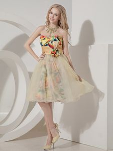 Princess Sweetheart Printed Knee-length Inexpensive Homecoming Dress in London