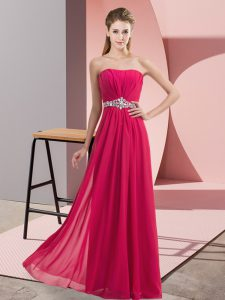 Trendy Hot Pink Homecoming Dress Online Prom and Party with Lace V-neck Sleeveless Zipper