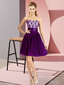Discount Chiffon Sleeveless Mini Length Homecoming Dress Online and Lace
