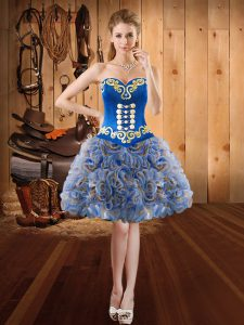 High Quality Multi-color Homecoming Dress Sweetheart Sleeveless Lace Up