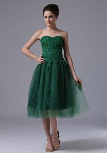 Dark Green Sweetheart A-Line Short Homecoming Dresses For Juniors With Beading