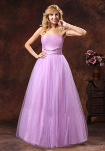 Lavender Princess Strapless Neckline Tulle Homecoming Dance Dresses in 2013