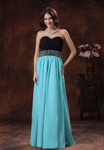 Aqua Blue Sweetheart Homecoming Dresses For Juniors with Beading Decorated Waist