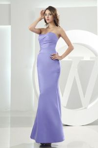 Mermaid Sweetheart Lilac Strapless Floor-length Evening Homecoming Dresses