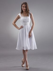 New White Short Chiffon Homecoming Dresses with Appliques in Chicago