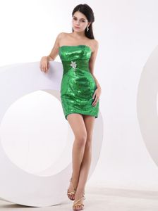 Honolulu Green Beaded Mini-length Homecoming Dresses for Juniors