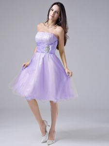Purple Strapless A-line Short Homecoming Dance Dresses in Freehold