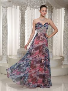 Dressy Sweetheart Beaded Homecoming Dresses for Prom in Multi-color