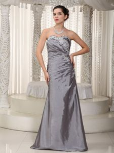 Gray Column Sweetheart Long Homecoming Princess Dresses in Chicago