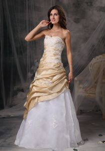 Sweet Champagne and White Sparkly Homecoming Dresses with Appliques