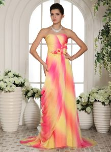 Spain New Column Chiffon Vintage Homecoming Dresses in Multi-color