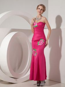 Mermaid Long Taffeta Evening Homecoming Dress with Appliques in Sweden