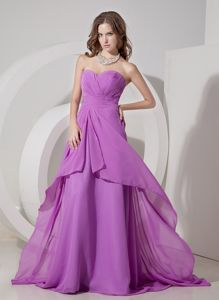 Charming Lilac Sweetheart Lace-up Ruched Homecoming Dresses in Sweden