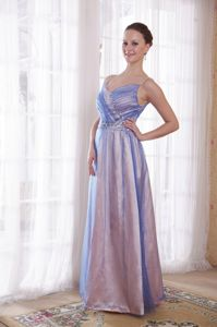 Stylish Lilac Tulle and Taffeta Long Homecoming Princess Dresses in Albany