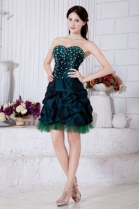 Honolulu Lovely Green Sweetheart Lace-up Taffeta Homecoming Dresses