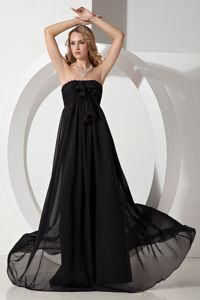 Black Empire Strapless Elegant Homecoming Formal Dress in Ozoirla