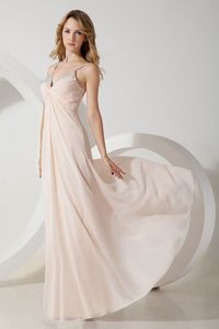 Light Pink V-neck Homecoming Dress Best for Juniors Popular in Denain