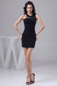 Scoop Neckline Tight Short Homecoming Dress with Cut Out Straps