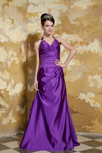 V-neck Purple Floor-length Beaded Homecoming Queen Dresses in Tennessee