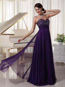 Sweetheart Purple Appliqued and Beaded Homecoming Dresses for Prom in Armona