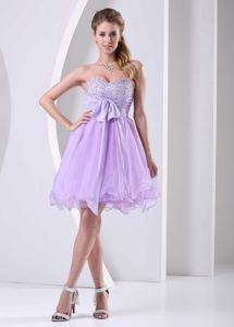 Lilac Sweetheart Beaded Organza Inexpensive Homecoming Dresses in Alhambra