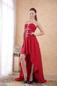 A-Line Sweetheart High-low Beaded Vintage Homecoming Dresses in Alameda