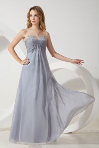 High Quality Chiffon Strapless Homecoming Dress in Silver Grey in fort Rucker