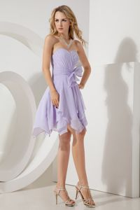 Lilac Empire Sweetheart Homecoming Dresses On Sale with Bowknot in Foley