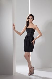 Jewelries Decorated Bodice Mini-length Cute Homecoming Dresses in Strapless in Vista