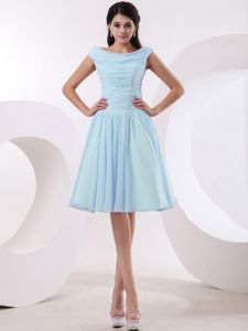 Ruched Bodice Bateau Baby in Inexpensive Homecoming Dresses Blue with in Tampa