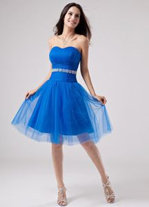 Strapless A-Line Knee-length Junior Homecoming Dresses with Beading from Savannah