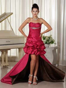 Custom Made High-low Ruched Homecoming Dresses in Beading Bodice from Lansing